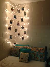 bedroom fairy lights in room string lights bed hanging bar