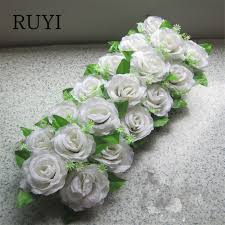 silk flowers for wedding aliexpress buy artificial flower road led flowers wedding