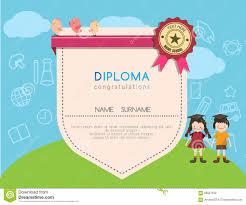 preschool certificates kids diploma preschool certificate elementary school design