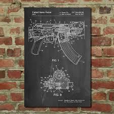 ak 47 blueprint gun patent prints touch of modern