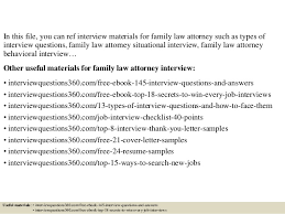 Family Law Attorney Resume Sample by Top 10 Family Law Attorney Interview Questions And Answers