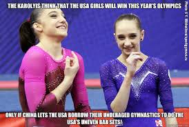 Gymnast Meme - the karolyis think that the usa girls will win this year s