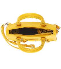 balenciaga classic nano city shoulder bag yellow women balenciaga