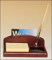 Promotional Desk Accessories Rosewood Piano Finish Desk Organizer 4 3 4 X