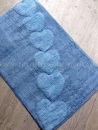 tappeti da bagno tappeto da bagno serie alba nuvole di stoffa variante azzurro