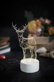 modern reindeer lamp deer lamp table lamp deer night light