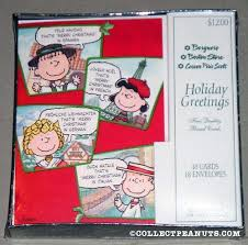peanuts christmas cards collectpeanuts com