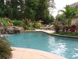 swimming pool landscape design backyard swimming pool waterfall
