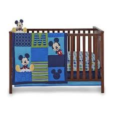 Mickey Mouse Crib Bedding Sets Disney Infant Boy S 4 Mickey Mouse Crib Bedding Set
