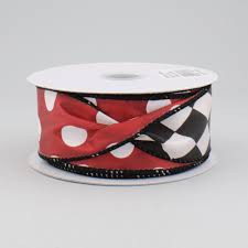 sided ribbon 1 5 polka dot harlequin 2 sided ribbon black white 10