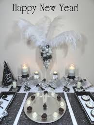 silver party favors black and white theme new year s party beautiful inexpensive ideas