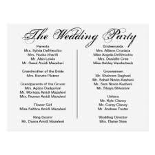 program for wedding reception wedding program postcards zazzle