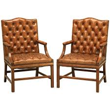 Leather Chesterfield Armchair Leather Arm Chairs Irving Leather Armchair Chestnut Pottery Barn