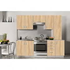 cuisine equipee bois cuisine équipée de 2m20 oxane en imitation bois clair