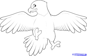 how to draw an easy eagle step by step birds animals free