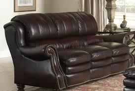 Burgundy Leather Sofa Italia Burgundy Bridgeport Sofa U0026 Loveseat Set W Options