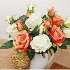 Artificial Flowers Cheap Aliexpress Com Buy Artificial Flowers Cheap Rose Indoor Plants