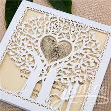 wedding invitation cards fairytale laser cut tree wedding invitation card wzl0014 wzl0014