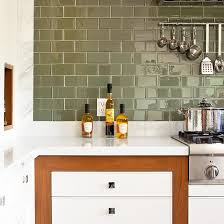 green tile kitchen backsplash green subway tile backsplash in white kitchen eco 62