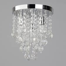 4 light semi flush circular bathroom ceiling light chrome