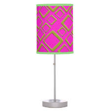 Pink Table Lamp Pink And Gold Table U0026 Pendant Lamps Zazzle