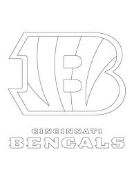 nfl football helmet coloring pages cincinnati bengals logo coloring page free printable coloring pages