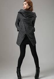 hooded motorcycle jacket womens blazer wool blazer short biker jacket modern