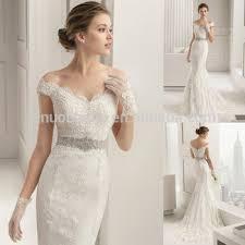 stylish 2015 lace mermaid wedding dress v neck off shoulder cap