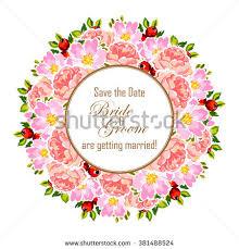 invitation for marriage wedding invitation card template frame tropic stock illustration