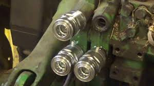 changing hydraulic couplers on john deere 6400 youtube