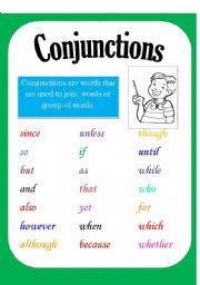 worksheet conjunction poster