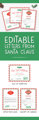 official letters from santa use these editable letters from santa for a magical christmas