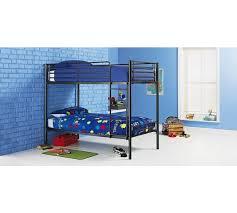 Buy HOME Samuel Single Bunk Bed Frame Black At Argoscouk - Single bunk beds