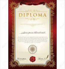 certificate diploma template blank stock sample of leave