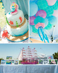 Mermaid Decorations For Party Kara U0027s Party Ideas Mermaid Princess Birthday Party With Lots Of