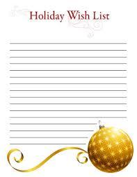 printable holiday wish lists holiday wish list 1