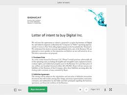Letter Of Intent To Do Business by Signicat Sign U2013 Secure Electronic Signing Of Documents