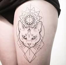 tattoo cat 32 geometric cat tattoo designs amazing tattoo ideas
