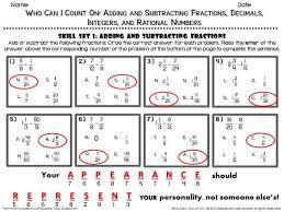 subtracting rational numbers worksheet worksheets