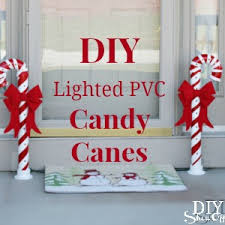 Diy Outdoor Lawn Christmas Decorations Lighted Pvc Candy Canes Diy Christmas Home Decor Diy Show Off
