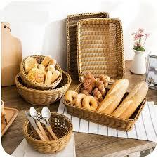 panier cuisine imitation rotin armure de stockage panier en plastique rectangulaire