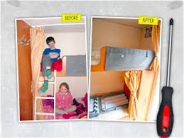 Split Bunk Beds How To Split A Bunk Bed Curtain In Your Caravan Advice