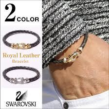 leather bracelet swarovski images Gab george rakuten ichiba shop rakuten global market all two jpg
