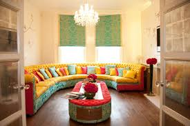 beautiful half round colourful sofa set for living room interior