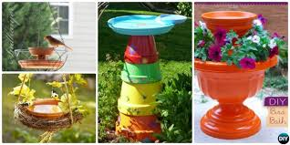 Flower Pot Bird Bath - diy clay pot birdfeeders