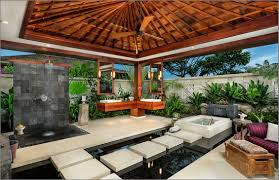 Outdoor Bathroom Ideas Interesting Outdoor Bathroom Ideas With Square White Bathtub And