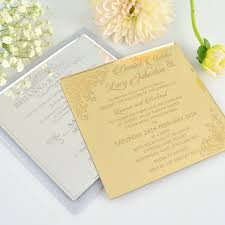 c6 engraved acrylic wedding invitations engraved wedding