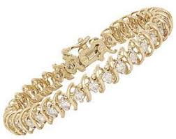 yellow gold bracelet with diamonds images 14k yellow gold 4 ctw diamond swirl tennis bracelet this striking jpg