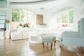 Luxury Livingroom Designer Armchair In Luxury Living Room Interior Stock Photo