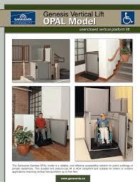Garaventa Stair Lift by Garaventa Genesis Opal Model Brochure